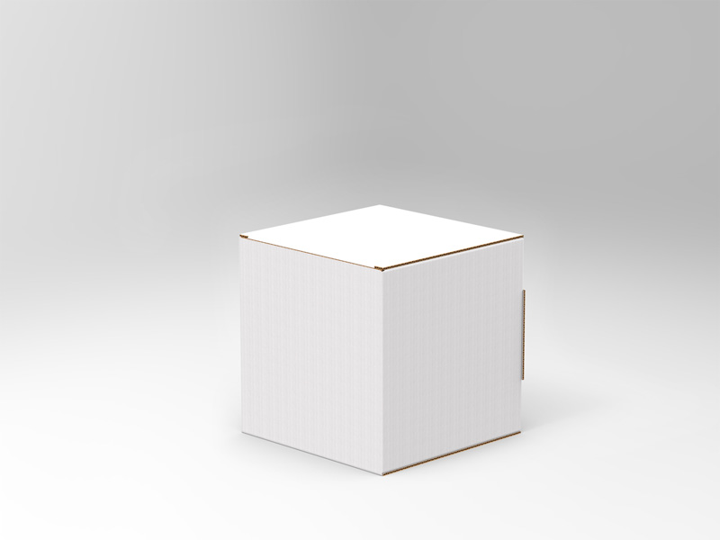 Cartello vetrina a cubo - L <br> 35 X 35 cm <br> in Microonda 1,8 mm